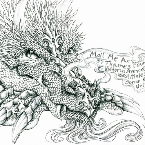 Mail Me Art Project, Dragon Illustration