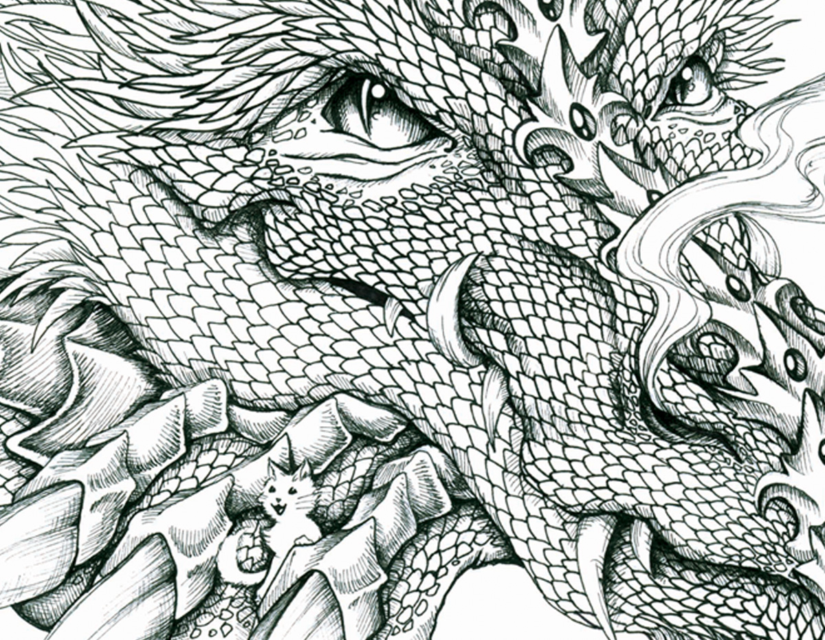 Mail Me Art Project, Dragon Illustration